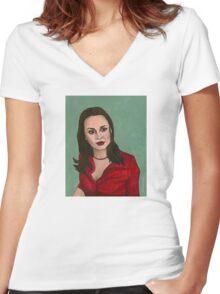Enemies - Faith - BtVS Women's Fitted V-Neck T-Shirt