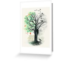 They Loved the Landscape to Death Greeting Card