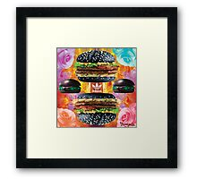 Health Goth Burger Framed Print