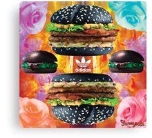 Health Goth Burger Canvas Print