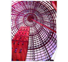 Coops Shot Tower Through Rose Coloured Glasses Poster