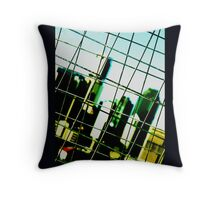 caged urbania Throw Pillow