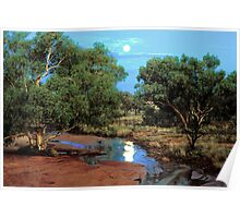 Outback Moonrise Poster