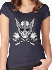 Thor Helmet and Hammers Women's Fitted Scoop T-Shirt