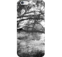 The lake at Dunkeld Community Park in Dunkeld, Victoria, in monochrome iPhone Case/Skin