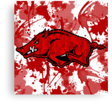 Go Razorbacks! Canvas Print