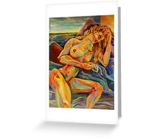 Contentment of the Sleeping Nude (Acrylics)- Greeting Card