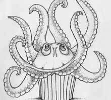 Octopus Cupcake by howlinglights