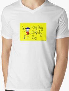 Ship Ahoy Birthday Boy Mens V-Neck T-Shirt
