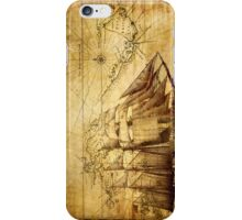 Antiques sailing map iPhone Case/Skin