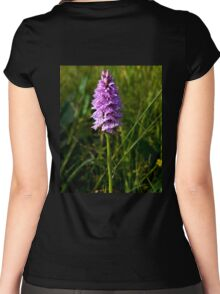 Spotted Orchid, Kilclooney, Donegal Women's Fitted Scoop T-Shirt