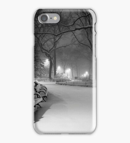 Central Park in the Snow 18 iPhone Case/Skin