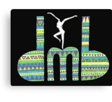 DMB Firedancer Aztec with black background Canvas Print