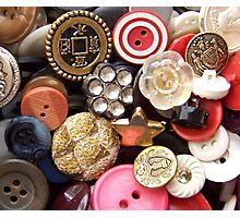 Buttons Photographic Print