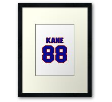 National Hockey player Patrick Kane jersey 88 Framed Print