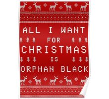 All I Want for Christmas is Orphan Black Poster