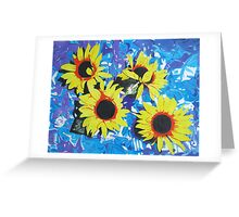 Four Sunflowers Greeting Card