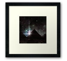 Pyramid Nights Framed Print