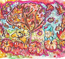 Pokemon Autumn Scene! by Jonny2may