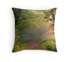 Misty Morning on the Lea Valley Way Throw Pillow