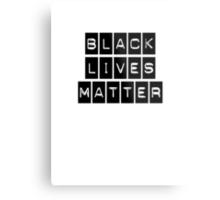 Black Lives Matter (Black Blocks Over White) Metal Print