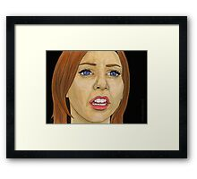 Something Blue - Willow - BtVS Framed Print