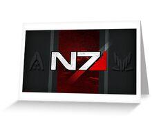 N7 sheild textured background Greeting Card