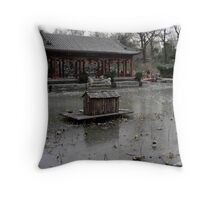 Winter Lake - Beijing Throw Pillow