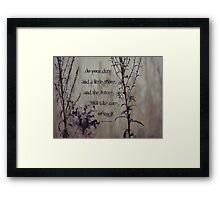 Do a little more-inspiration Framed Print