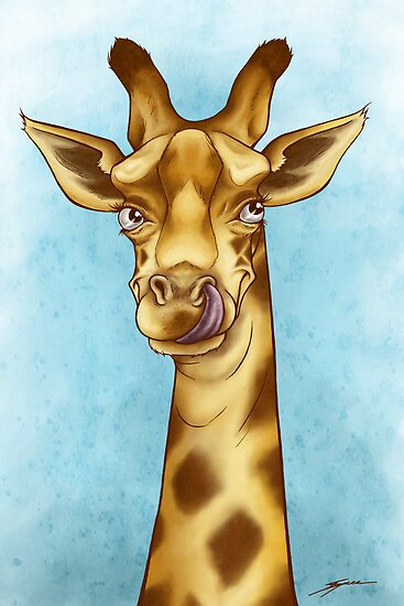 Silly Giraffe by Ine Spee