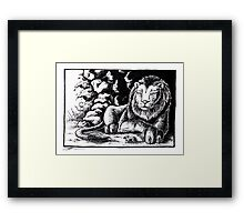 The lion and the mouse Framed Print