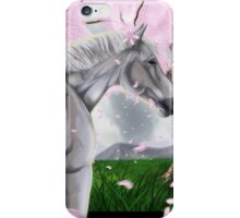 Horse Cherry Blossoms  iPhone Case/Skin