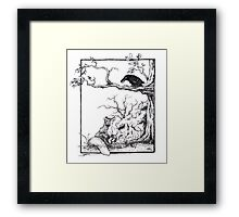 The fox and the raven Framed Print