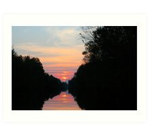 SunSetting  Art Print