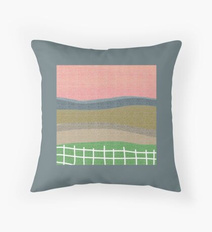 Landscape modern art,  Throw Pillow