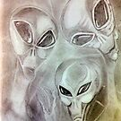 alien greys (pencils) by gabriel6