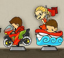 Team Arrow Goes - Kiddie Rides! by TheKeyThief