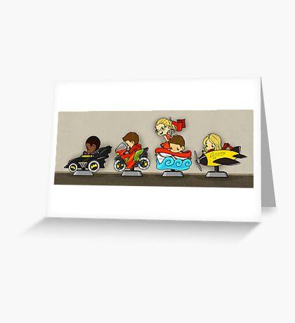 Team Arrow Goes - Kiddie Rides! Greeting Card
