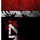 Mass Effect N7 distressed by Tony  Bazidlo