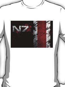 Mass Effect N7 distressed T-Shirt