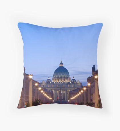St Peters Basilica Throw Pillow