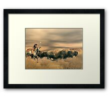 Buffalo Hunter Framed Print