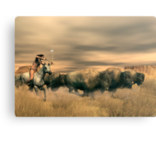 Buffalo Hunter Canvas Print