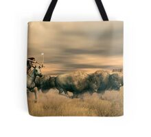 Buffalo Hunter Tote Bag
