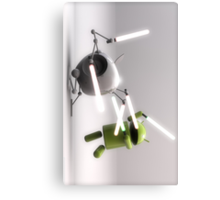 Android & Apple Lightsaber Canvas Print