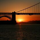 San Fransisco Golden Gate at Sunset by TimCatteraPhoto
