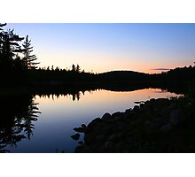 September Sunset, Mijinemungshing Lake Photographic Print