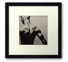 Black back Framed Print