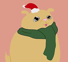 Badly Drawn Pups: Christmas Pup by GottyKoby