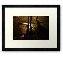 Foot Traffic Framed Print